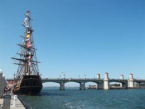 HMS Bounty and Bridge of Lions